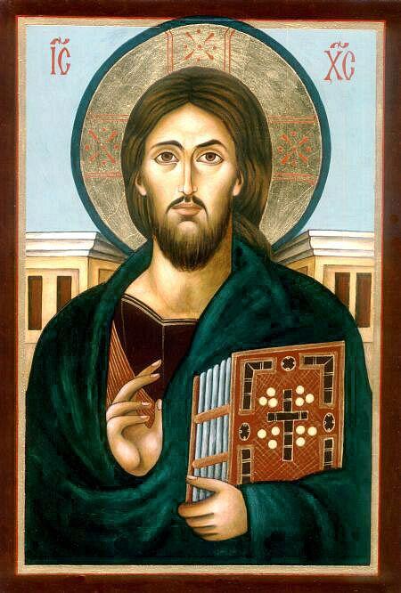 """Chrystus Pantokrator"" - według najstarszego przedstawienia  Zbawiciela z VI w. ""Our Saviour"" - painted on the basis of the oldest image of Christ  from 6th c."