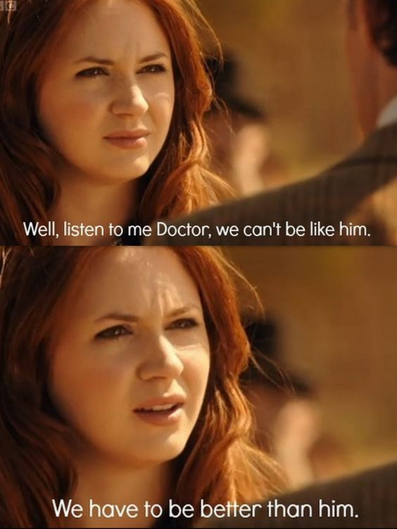 Amy is so wise! I'm gonna miss her when the end of the season comes :( :( :(: Whovian, Madman, Obsession, Travel Alone