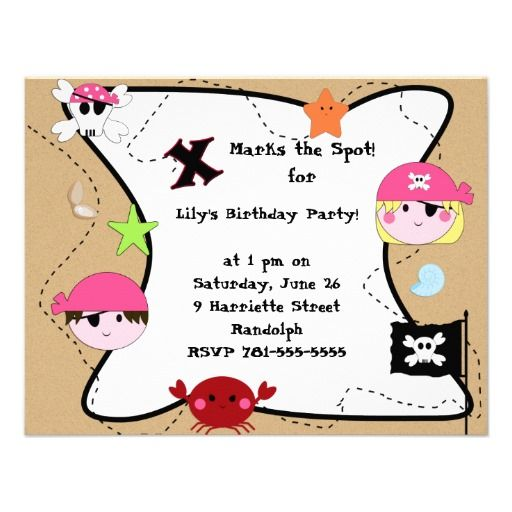 20 best Girl Pirate Party Invitations images – Pirate Party Invitation Ideas