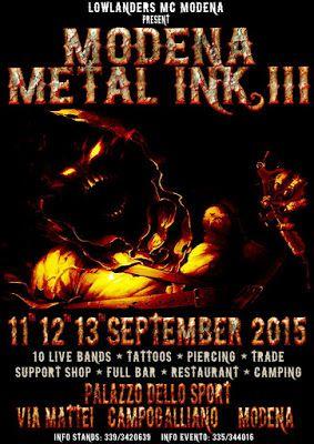 Tattoo & Ink: Modena Metal Ink III 2015