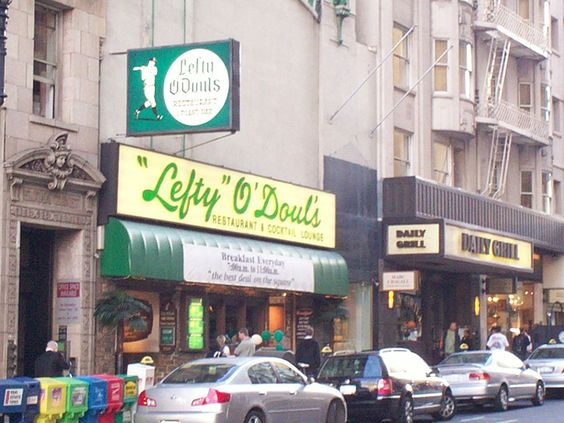 """Lefty O'Douls in San Francisco which was used as the mental visual for Pop's Bar in the short story book """"Shadows of the Red Tree"""" by Daniel Millhouse."""