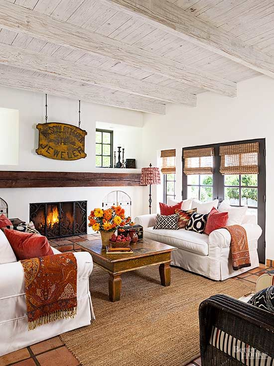 Wood-burning fireplaces aren't very energy efficient. Get the most out of your existing fireplace by installing an insert. You can keep the original structure and vent through the chimney. Inserts can burn wood, gas, or wood pellets, and they have an insulated glass door that prevents hot air from escaping up the chimney.
