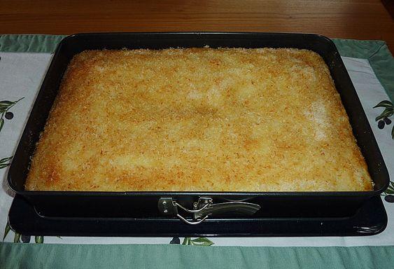 Buttermilchkuchen mit Kokosraspeln (Rezept mit Bild) | Chefkoch.de