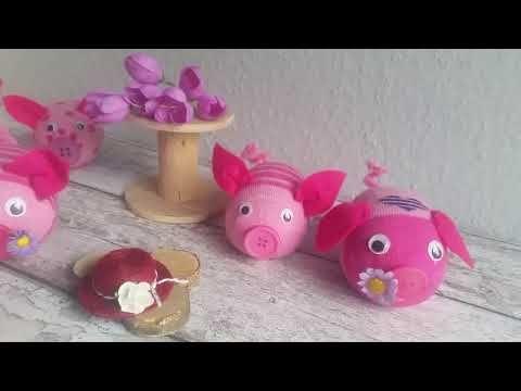 Socken Schweinchen Bastelneinfach Youtube Basteln