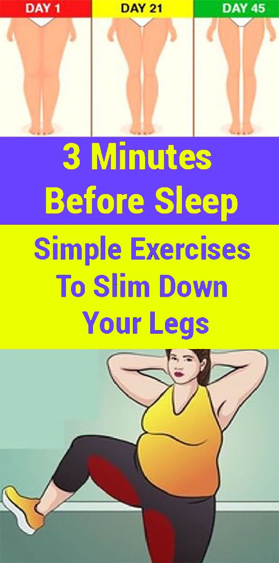 Exercising the legs will also help shed weight overall. Check out these simple exercises that you can do at home: