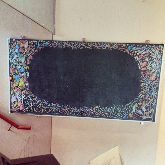 廃校黒板に描きました by matsuzonoo