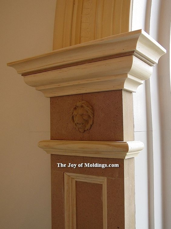Arch moulding simple paneled pilaster with lion head for Head casing window