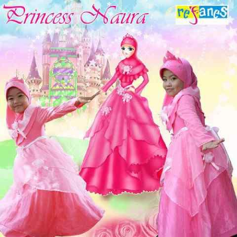 Baju Muslim Anak Modern Naura Princess