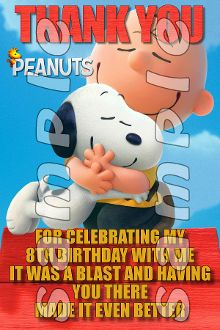PEANUTS 4X6 THANK YOU NOTES WITH ENVELOPES