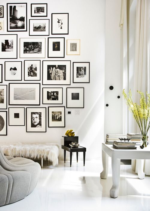 Black and white picture wall - Photography by Zach DeSart: