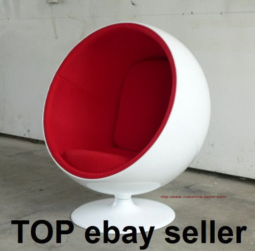 New red ball chair eero aarnio design globe pod egg Egg pod ball chair