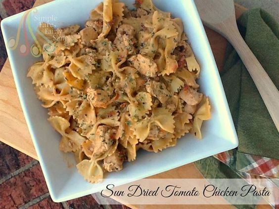 Simple Fare, Fairly Simple: Sun Dried Tomato Chicken Pasta