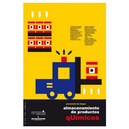 Almacenamiento de productos químicos #design #cartel #riesgoslaborales #Asturias #chemical