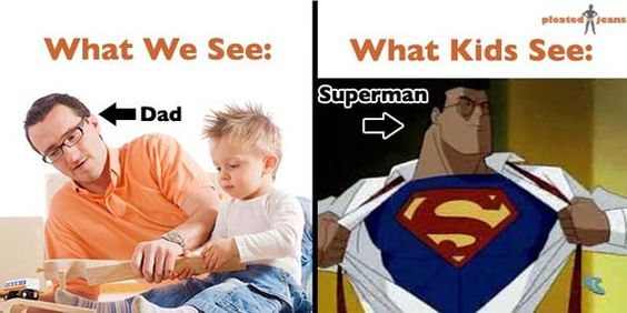 What kids see compared to what we see