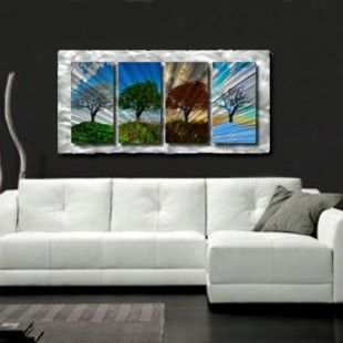 """All My Walls Four Seasons Contemporary Wall Art - 23"""" x 47"""" - NOR00005"""