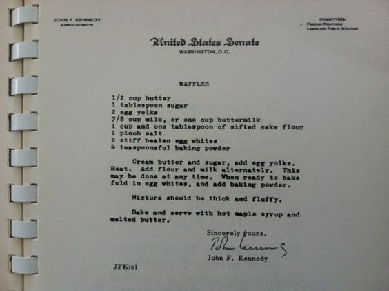 JFK's Favorite Waffle Recipe | THE AMERICAN MOMS