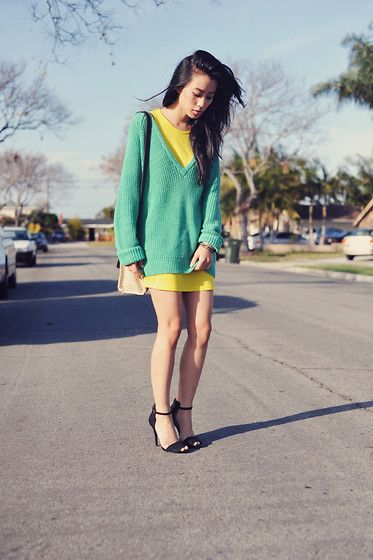 """""""mint & neon: hello spring"""" by Jenny Ong on LOOKBOOK.nu"""