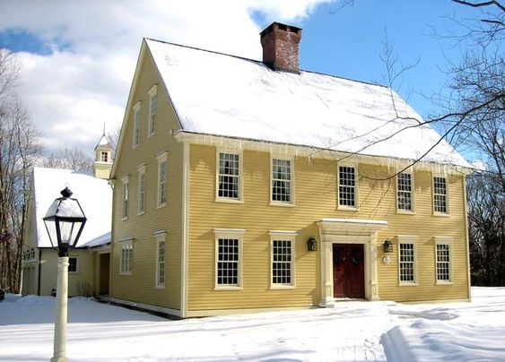 England house and french colonial on pinterest for New england colonial home plans