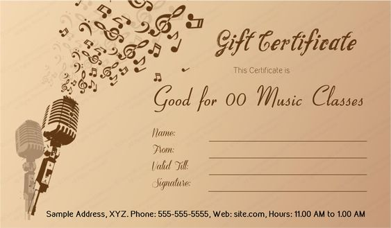 Download Options For Christmas Bells Gift Certificate Template