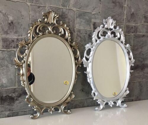 Wandspiegel Oval Barock Gold Silber Schwarz Weiss 43x28cm Spiegel Antik Shabby Ebay Gold Und Silber Spiegel Silber