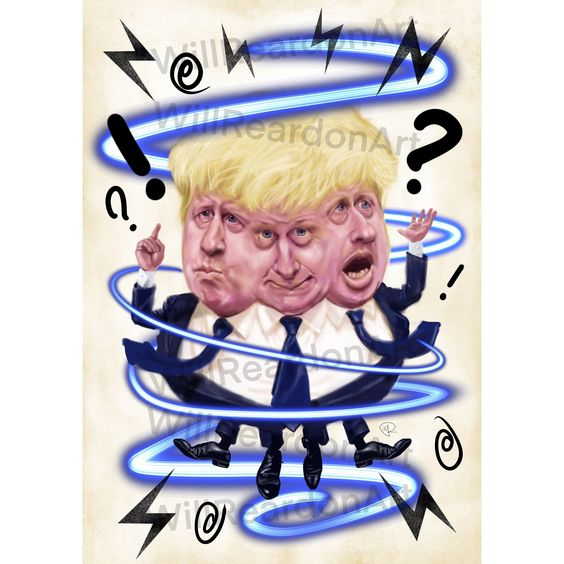 Boris Johnson/ Giclee Print/ Political Caricature/ Political Cartoon/ Politics/ BoJo