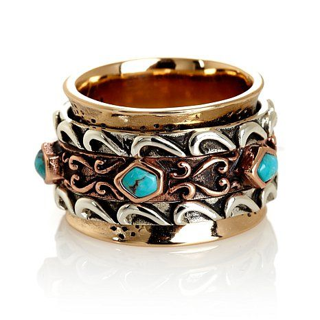 Studio Barse Tri-color Turquoise Spinner Ring  http://www.hsn.com/products/studio-barse-tri-color-turquoise-spinner-ring/7056500