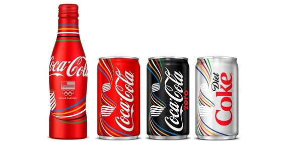 Olympic Coke Cans 2016 — The Dieline - Branding & Packaging Design Designed by Coca-Cola