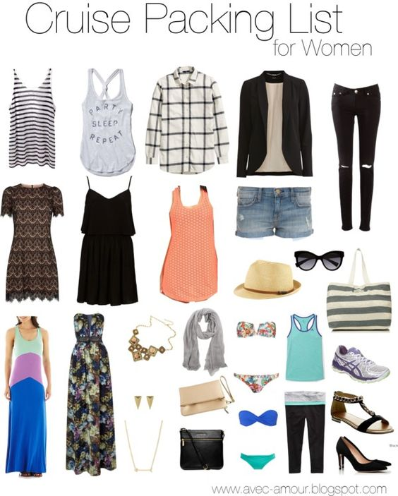 What To Pack For A Cruise Cruise Packing Guide For Women Travel Pinterest Cruise