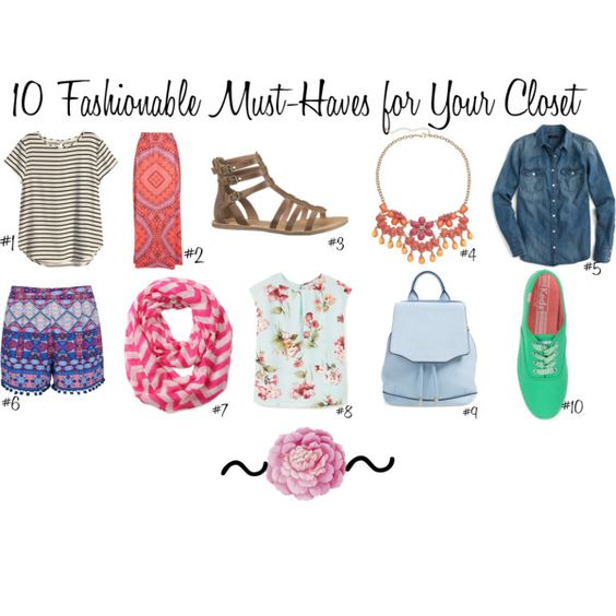 10 Fashionable Must-Haves for Your Closet by chronicles-allie on Polyvore featuring J.Crew, MANGO, H&M, Jane Norman, Ally Fashion, Keds, maurices, rag & bone, Ballard Designs and MustHaves: