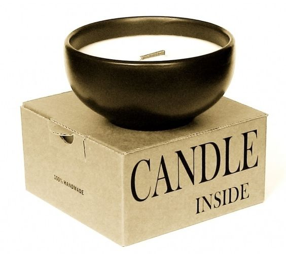 SCENTED CANDLE in terracotta dish