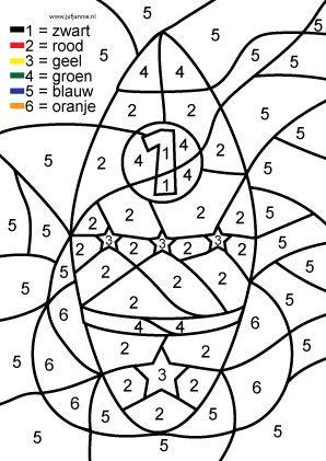 kleurplaten met cijfers erin
