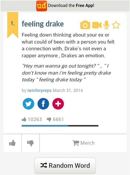 """Drake's not even a rapper any more, Drakes an emotion"" HILARIOUS  :D"