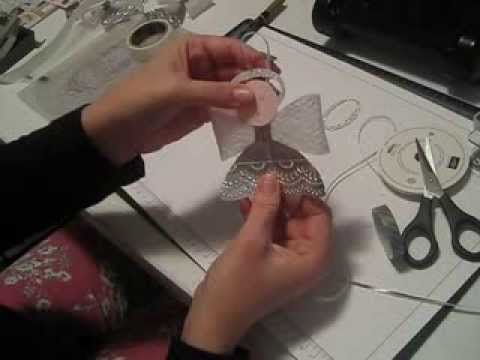 ▶ How to Make a Christmas Angel with the Bow Die from Stampin'Up - YouTube