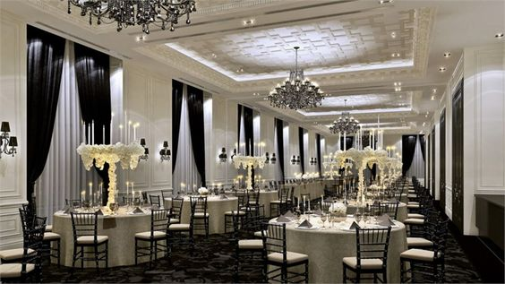 Trump Hotel Toronto Wedding Venue-if it wasn't 220$ a plate just for dinner, this would be my wedding venue!! Black & white-to die for!!