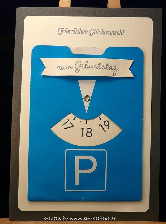 Karte Geburtstag 18 Parkscheibe stampin stemplehex                                                                                                                                                     Mehr