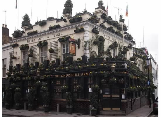 The Churchill Arms, a quintessential British Pub serving outstanding ales and traditional Thai fare.