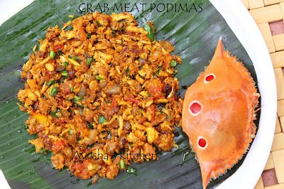 Crab meat podimas / burjji is an interesting and delicious recipe with crab meat.