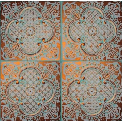 Alaska color copper ceiling tile from www.metalceilingexpress.com