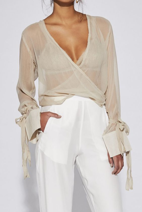 ILONA DRAPED TIE TOP