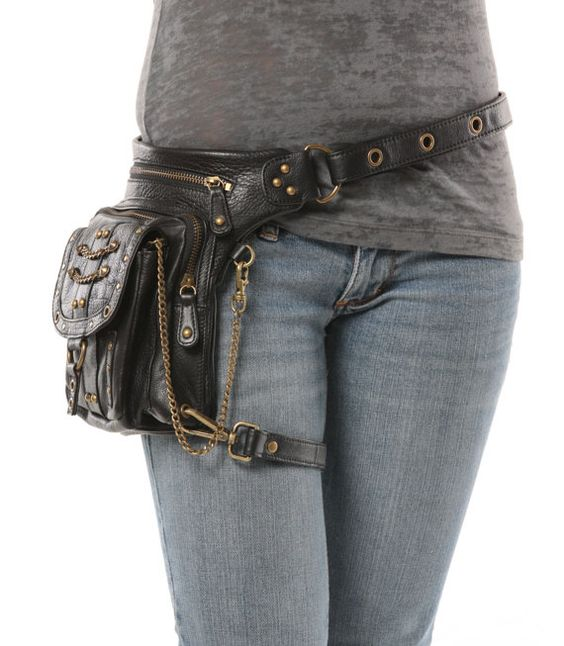 love these 8ways bags , so cool!  Underground Pack Black Thigh Holster Protected Purse by WCCouture
