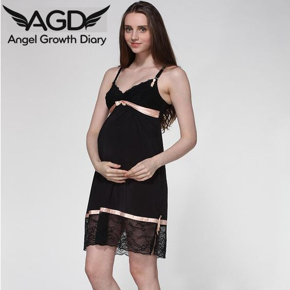 Find More Dresses Information about Pregnant Woman Maternity Chiffon Dress Clothing Clothes V neck Lace Breast Feeding Home Dress Nightwear European American Style,High Quality dress face,China dress and jacket suits Suppliers, Cheap dress coffee from Angel Growth Diary on Aliexpress.com