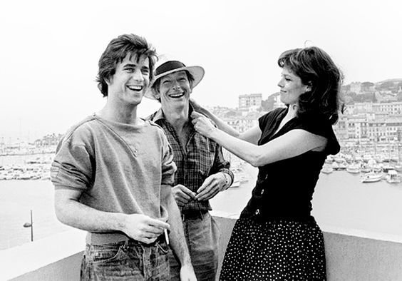 Mel Gibson, Peter Weir and Sigourney Weaver at Cannes in 1983.