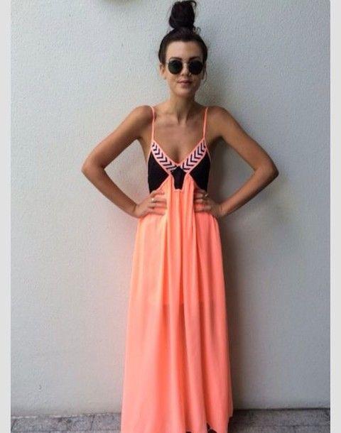 dress coral, peach