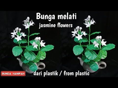 Membuat Bunga Melati Dari Plastik Kresek How To Make Jasmine