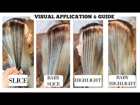 Slice Baby Slice Highlight Babylight Highlighting Guide Youtube Hair Color Techniques Hair Foils Colored Hair Tips