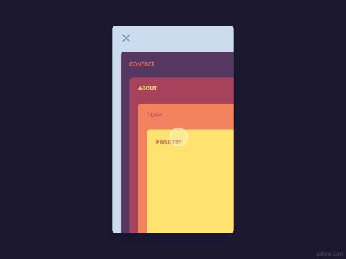 Cards Menu Concept by Gal Shir—The Best iPhone Mockups for...