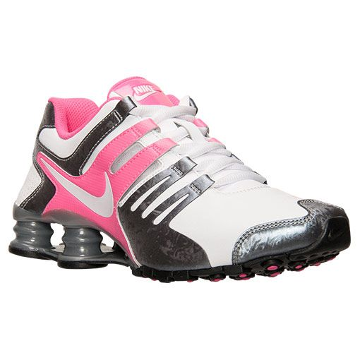 The Women\u0026#39;s Nike Shox Current Running Shoes - 639657 108 - Shop Finish Line today! White/Metallic Cool Grey/Pink Pow \u0026amp; more colors. Reviews, in-store pickup ...