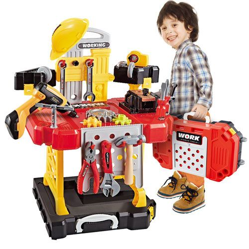 12 Best Toddler Workbench Reviews In 2020 Questions Answer Kids Workbench Construction For Kids Toys For Boys