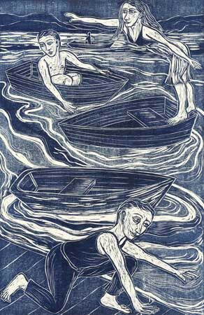 Eileen Cooper - woodcut