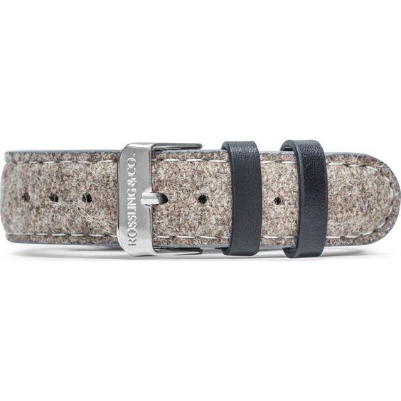 Rossling & Co. Aberdeen 20mm Watch Strap   Beige Tweed